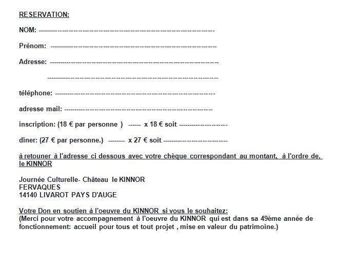 Telecharger Le Formulaire D Inscription Chateau Le Kinnor